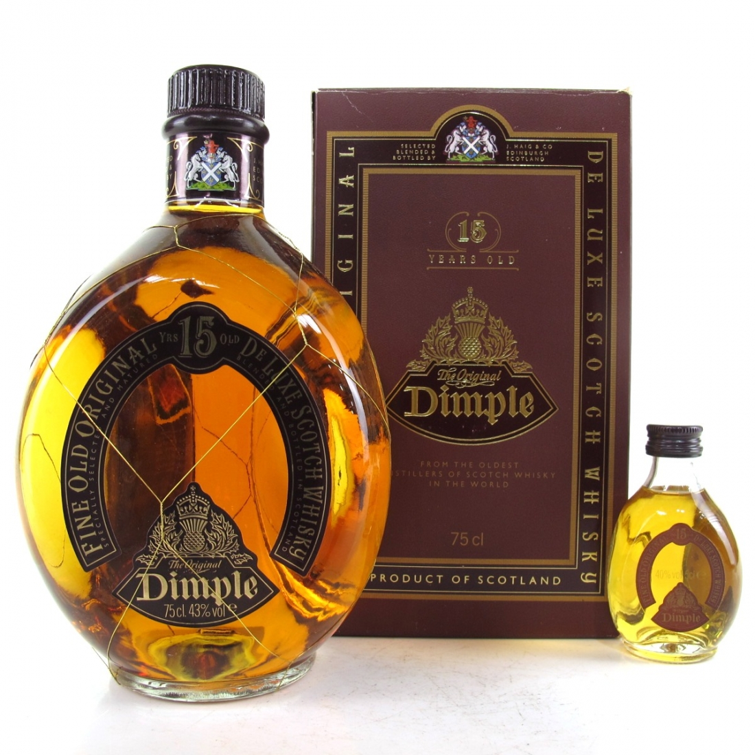 Haig's Dimple 15 Year Old 75cl / with Miniature 5cl