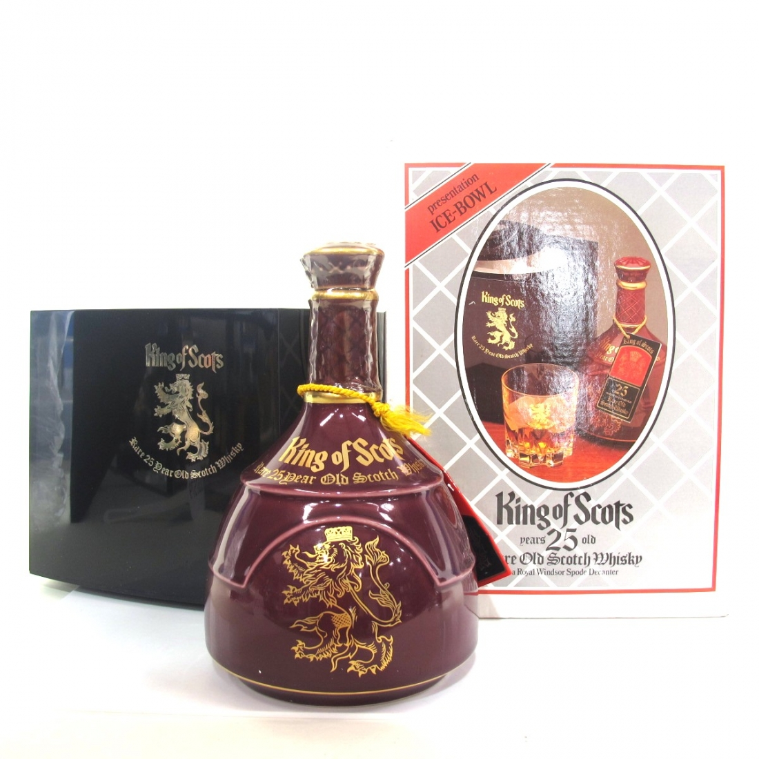 King of Scots 25 Year Old Decanter / Including Ice Bucket