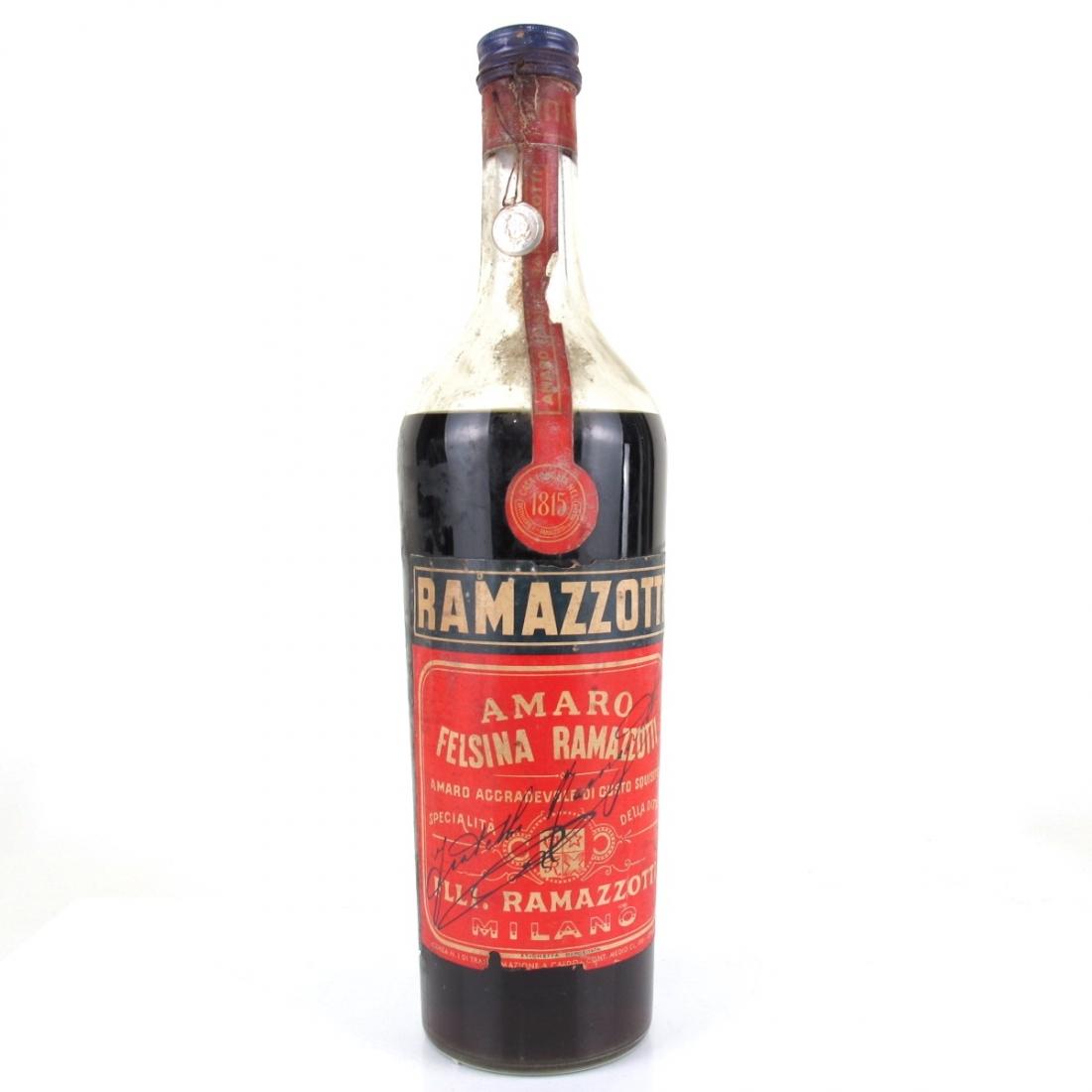 Ramazzotti Amaro 1 Litre 1950s