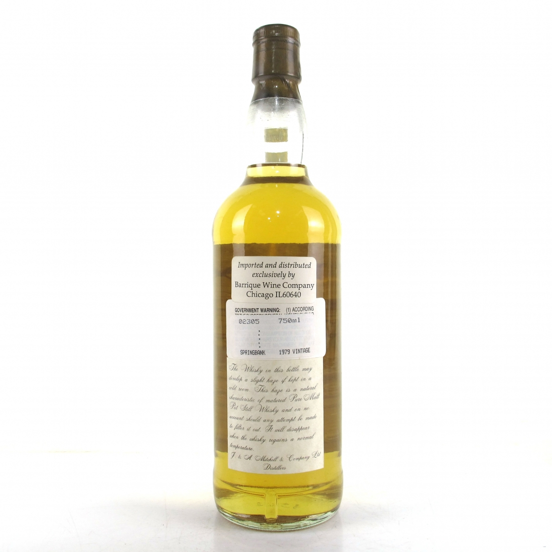 Springbank 1979 12 Year Old 75cl / US Import