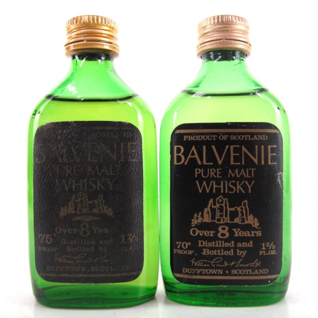 Balvenie 8 Year Old Pure Malt Miniatures 1970s x 2