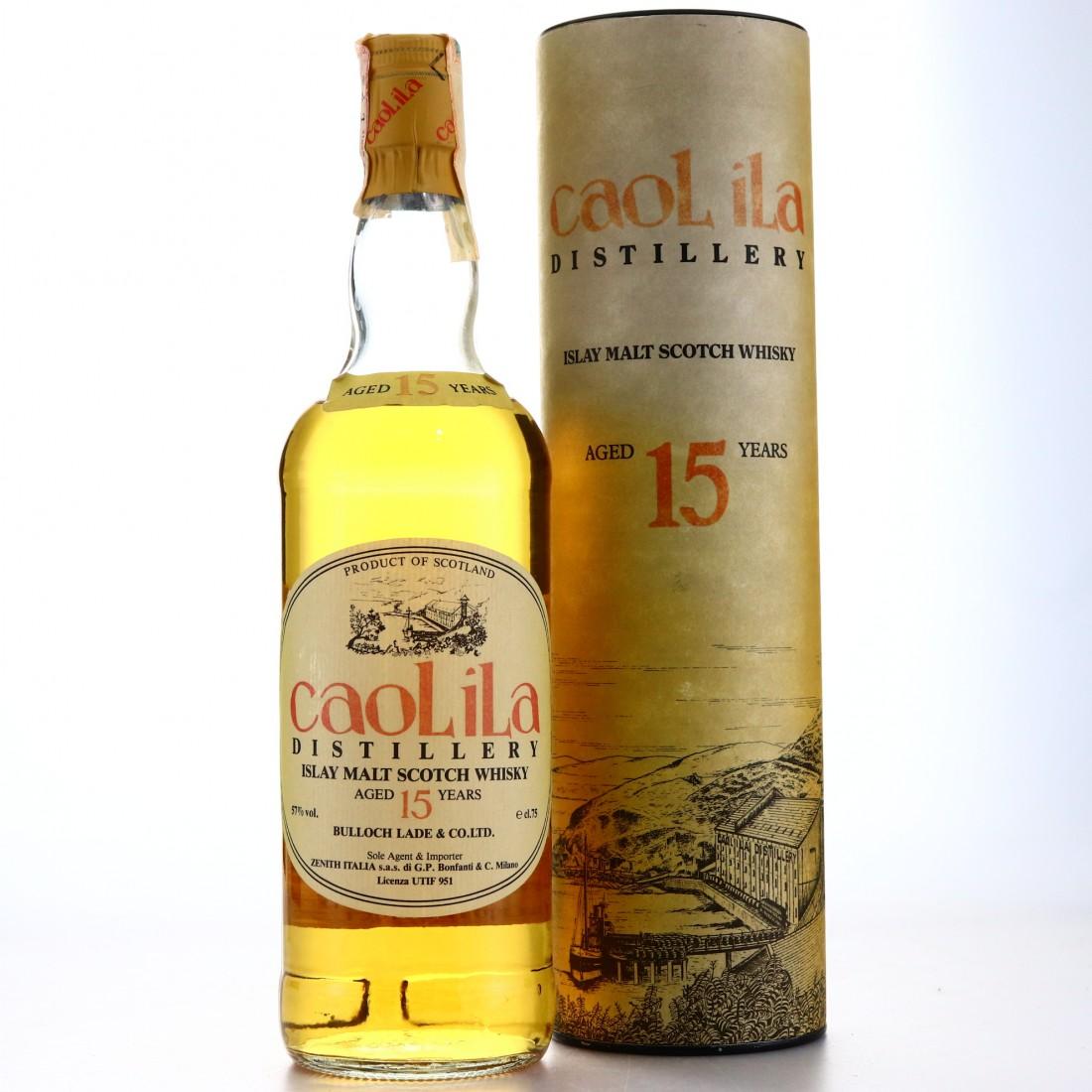 Caol Ila 15 Year Old Bulloch Lade 57% 1980s / Zenith Import