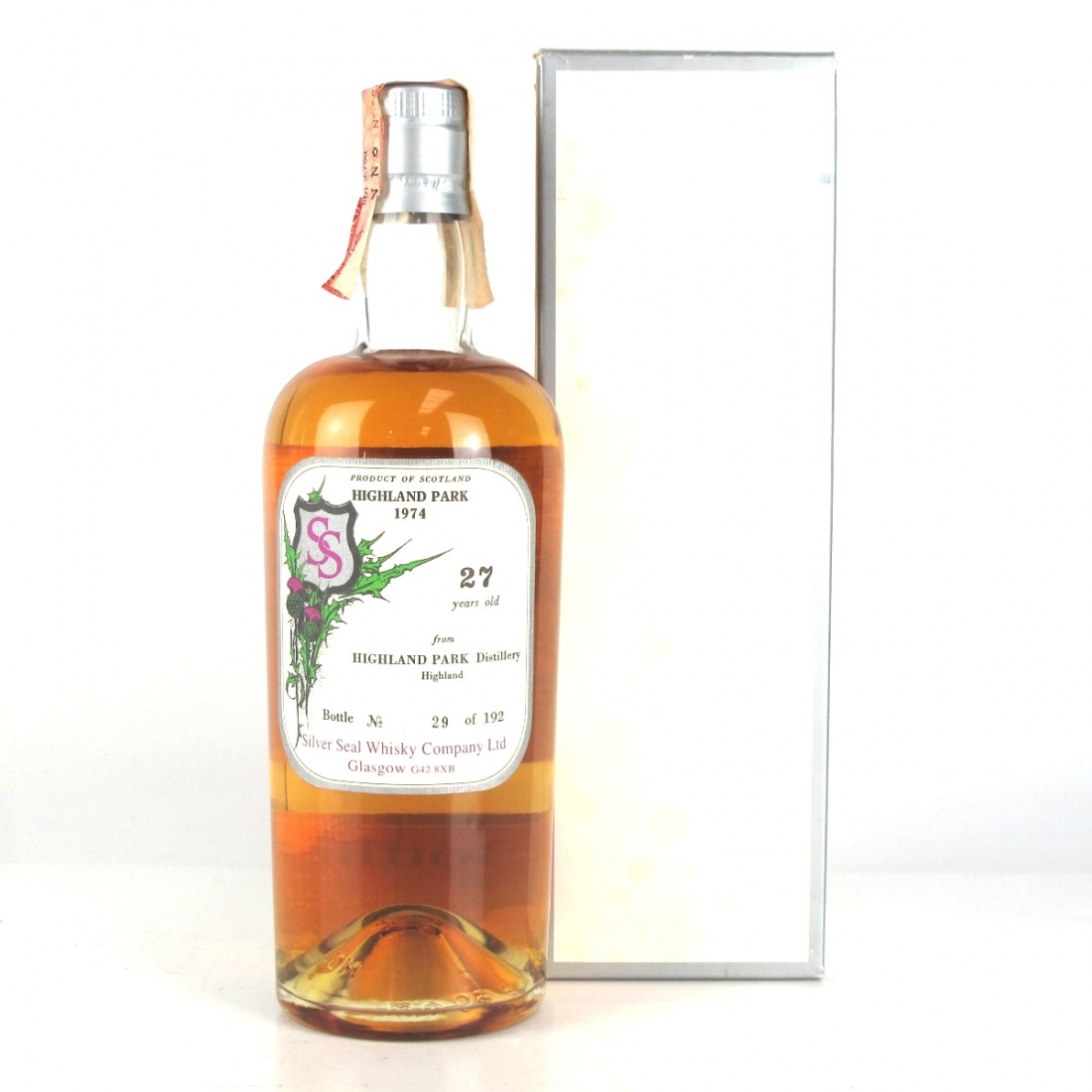 Highland Park 1974 Silver Seal 27 Year Old / First Bottling