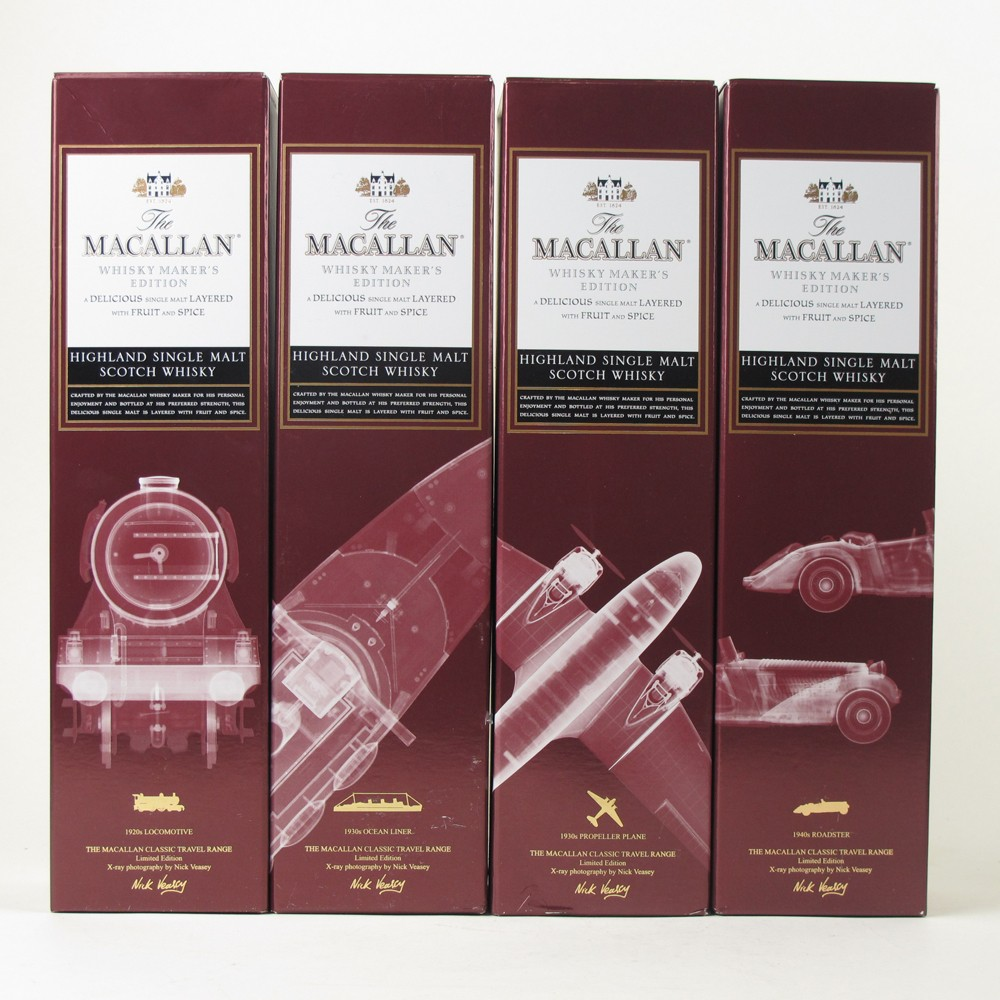 Macallan Whisky Makers Edition Classic Travel Range Nick Vassey Limited Edition 4 x 70cl