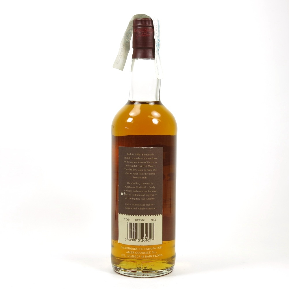 Benromach 12 Year Old Back