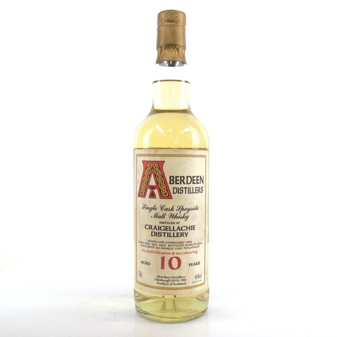 Craigellachie 1996 Aberdeen Distillers 10 Year Old