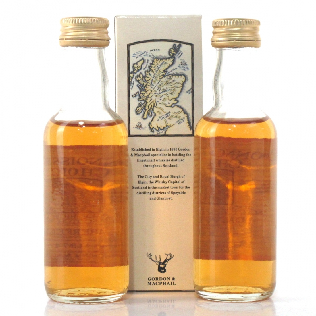 Dalwhinnie 1970 & Aberfeldy 1974 Gordon and MacPhail Miniatures 2 x 5cl