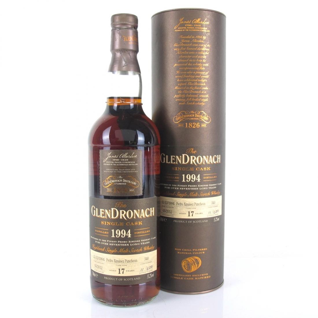 Glendronach 1994 Single Cask 17 Year Old #340