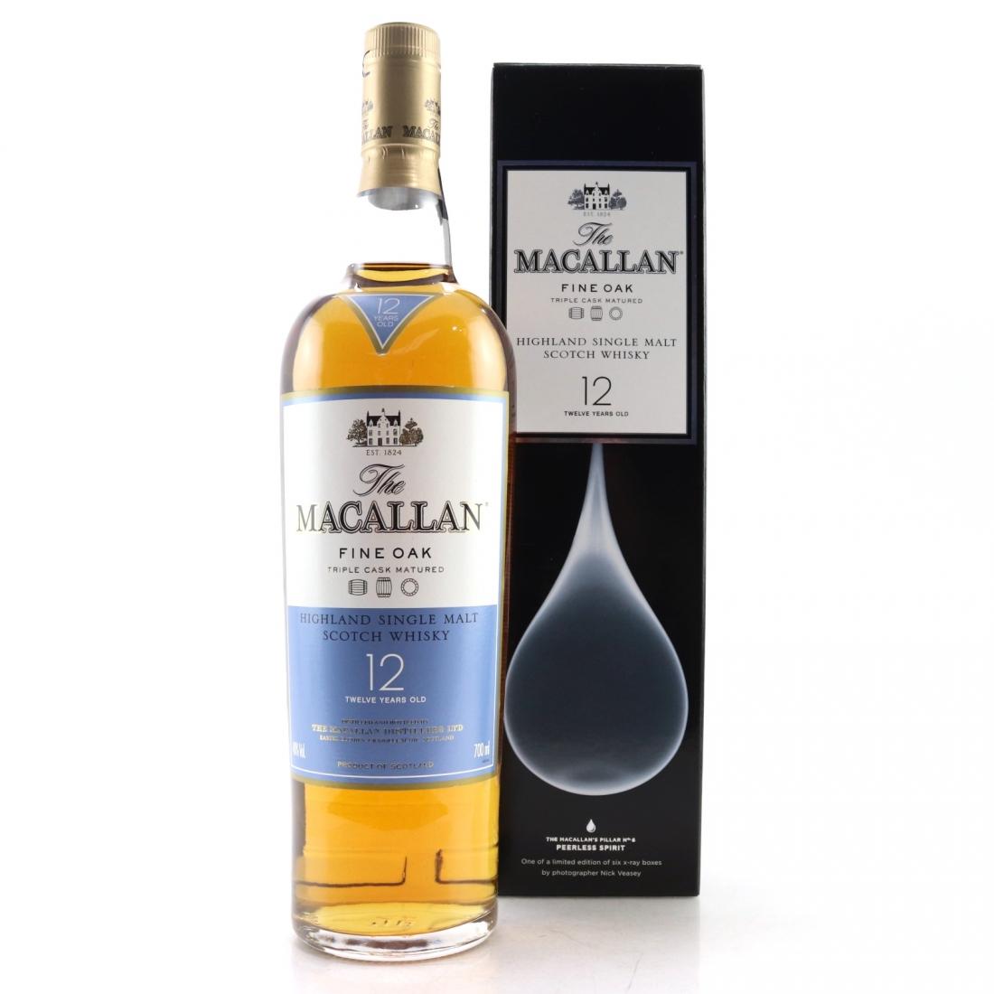 Macallan 12 Year Old Fine Oak Nick Veasey Pillars / No.6 Peerless Spirit