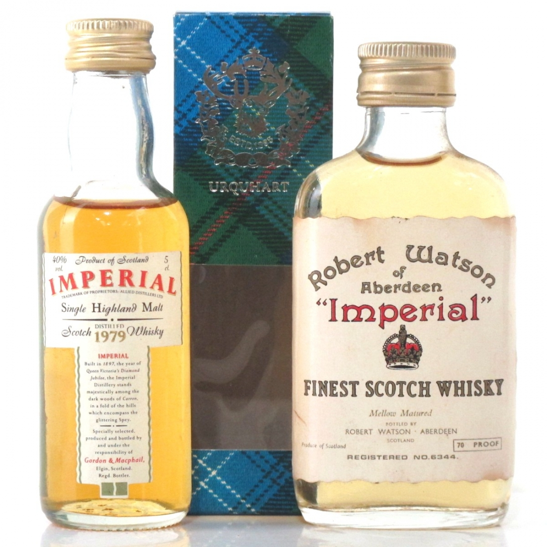 Imperial 1979 Gordon and MacPhail & Imperial Scotch Whisky Miniature 2 x 5cl