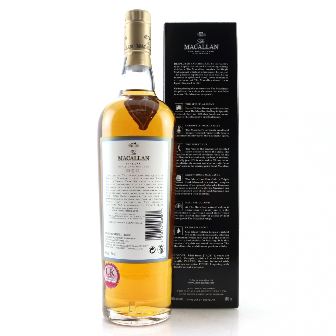 Macallan 12 Year Old Fine Oak Nick Veasey Pillars / No.5 Natural Colour