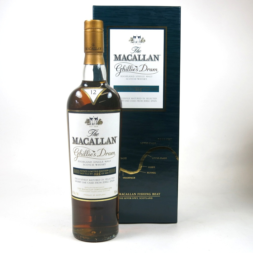 Macallan 12 Year Old Ghillies Dram Front 1