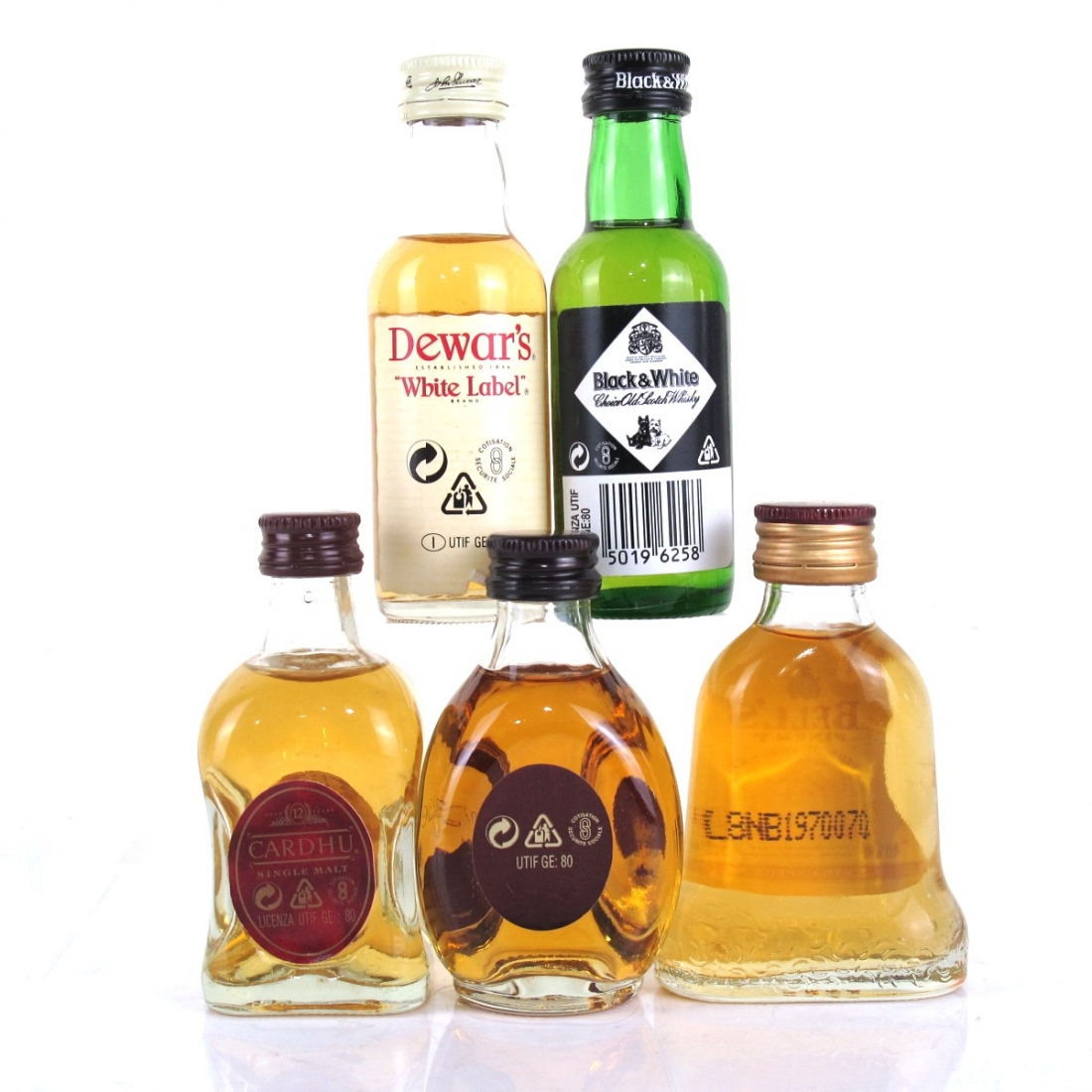 Miscellaneous Whisky Miniature Selection 5 x 5cl