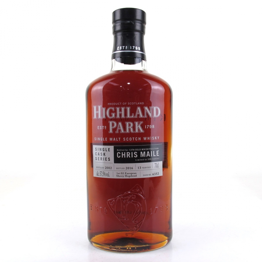 Highland Park 2002 Single Cask 13 Year Old #6352 / 13th Oslo Whisky Festival