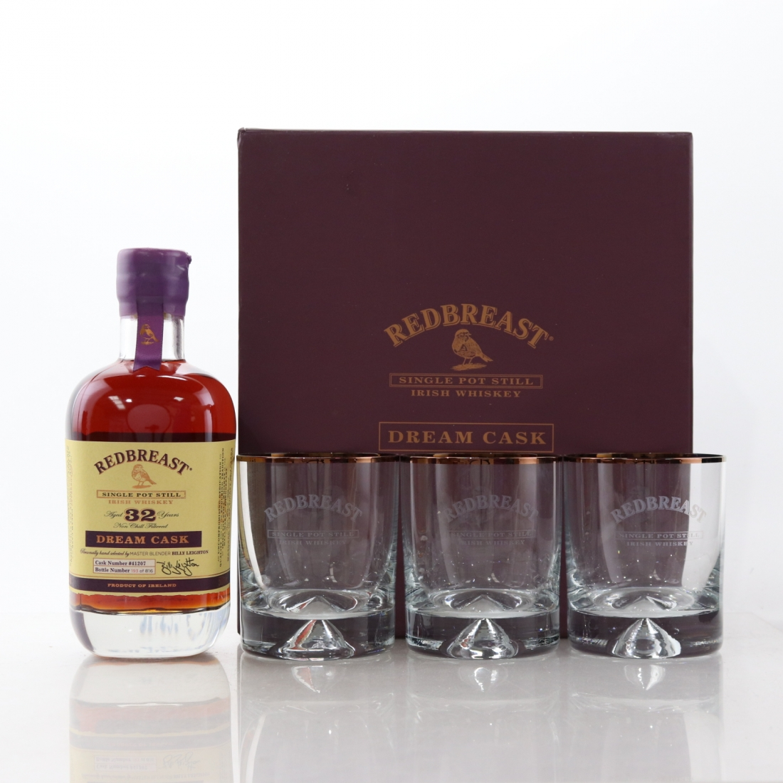 Redbreast 32 Year Old Dream Cask 50cl / including 3 x Glass