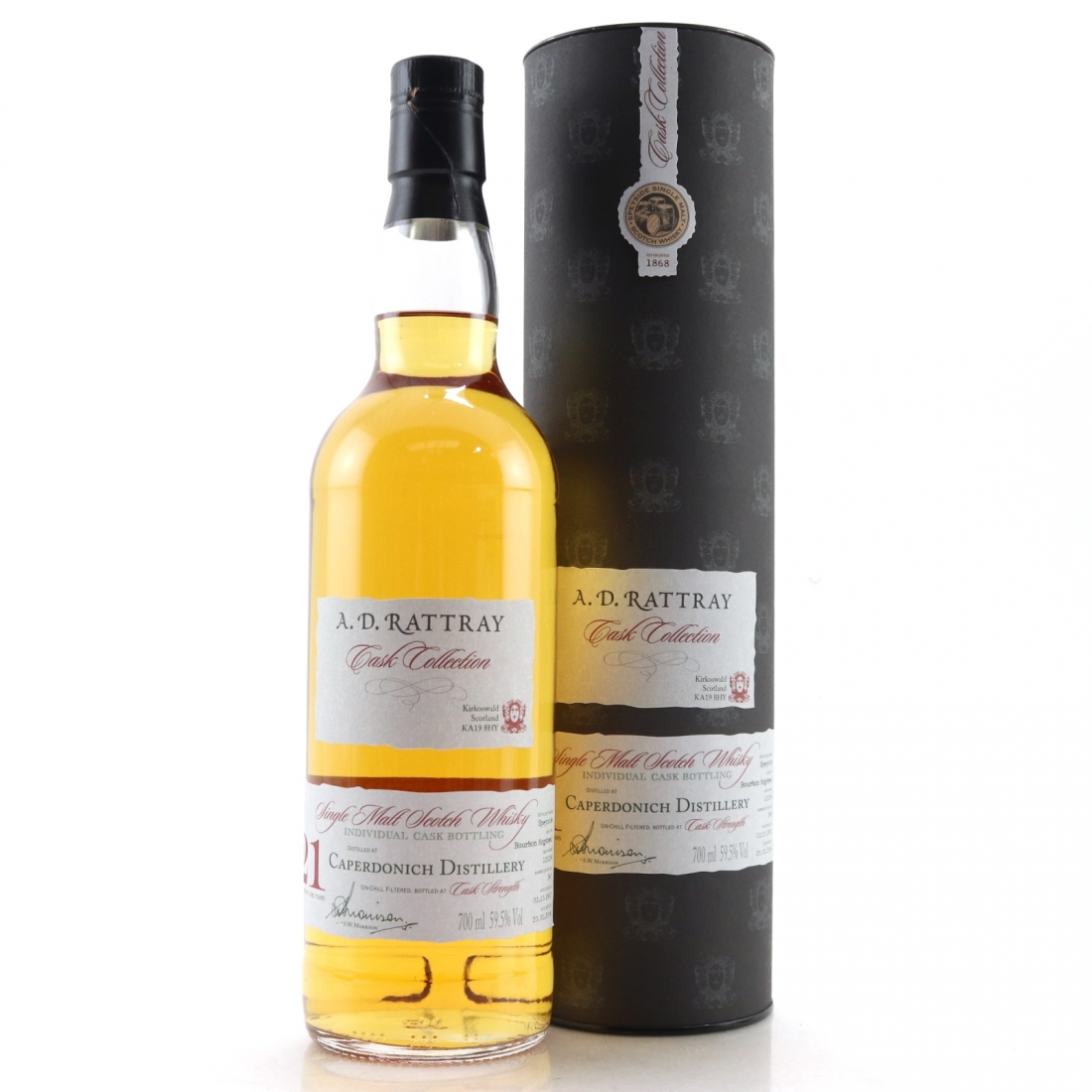 Caperdonich 1992 A.D. Rattray 21 Year Old