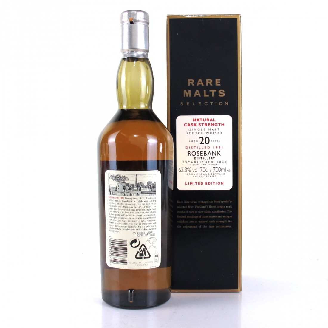 Rosebank 1981 Rare Malt 20 Year Old / 62.3%