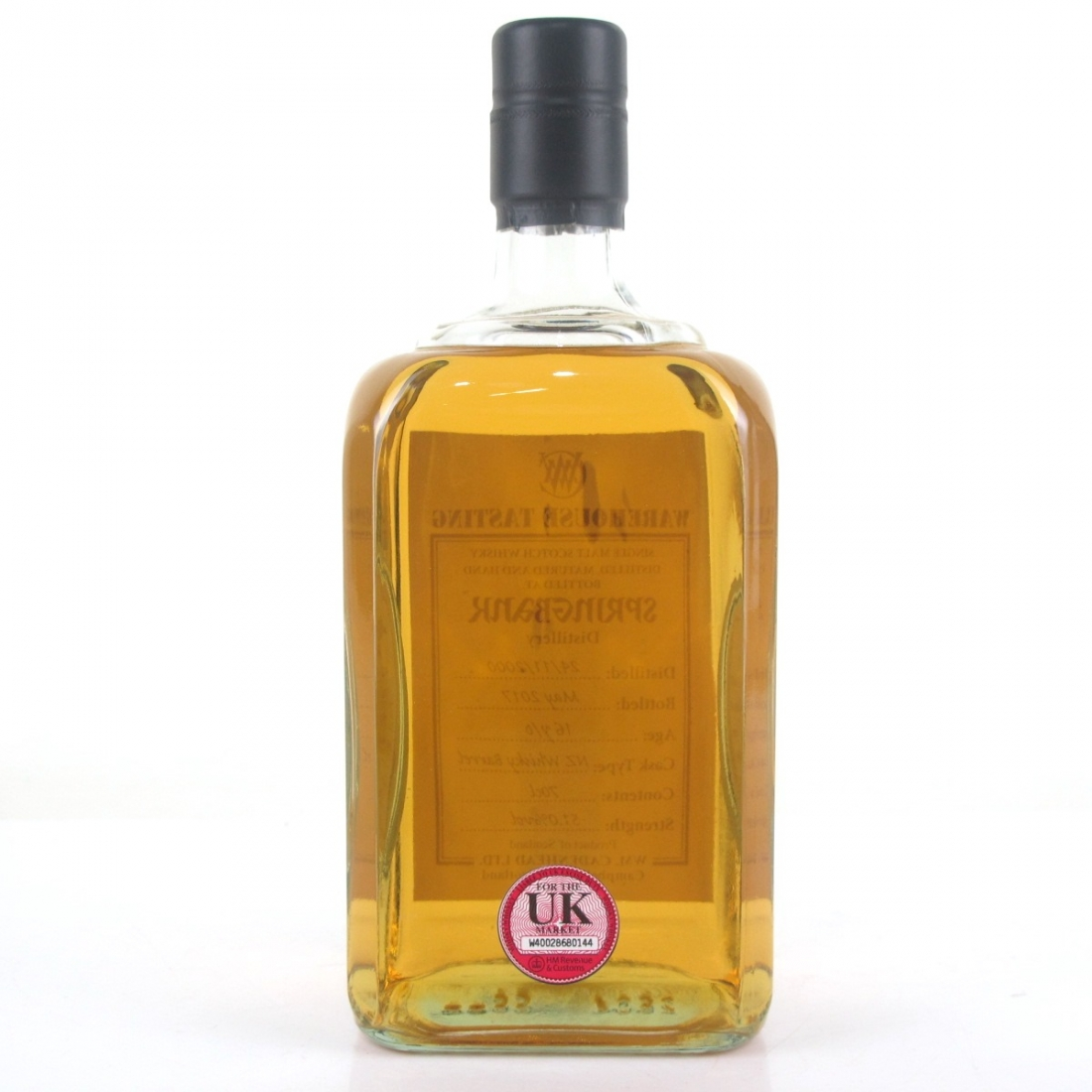 Springbank 2000 New Zealand Whisky Cask 16 Year Old / Warehouse Tasting
