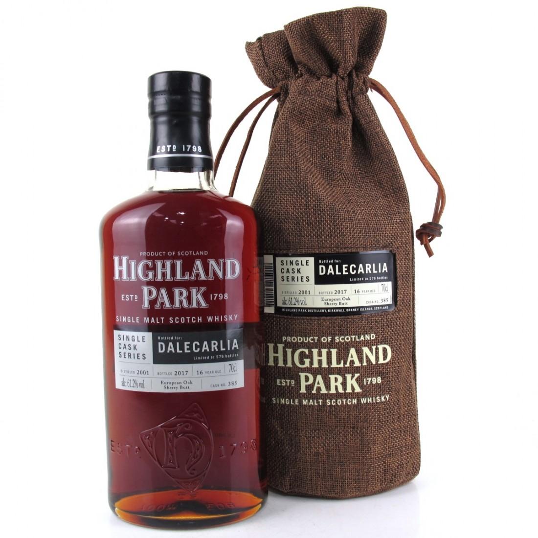 Highland Park 2001 Single Cask 16 Year Old #385 / Dalecarlia