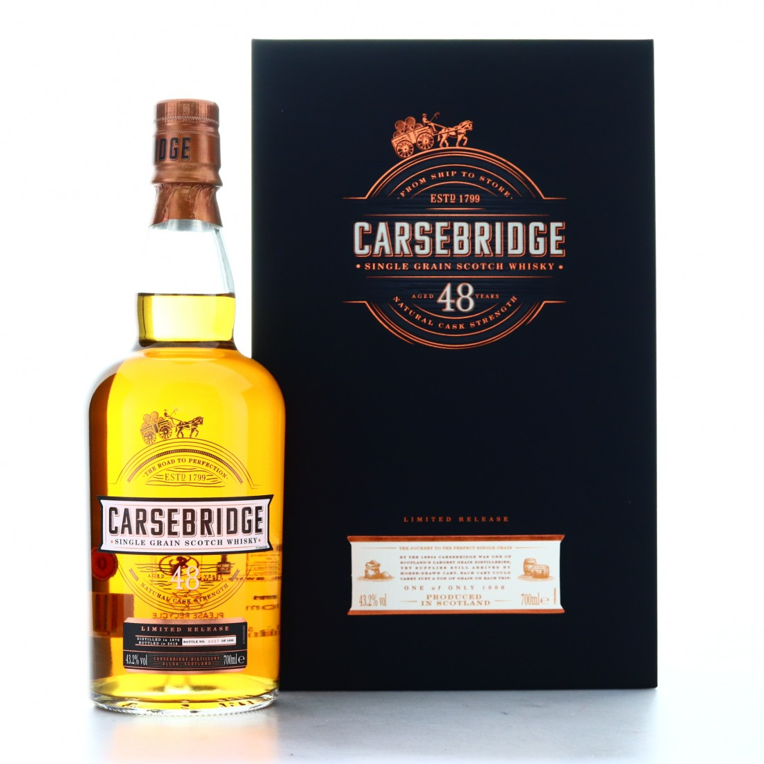 Carsebridge 1970 Cask Strength 48 Year Old