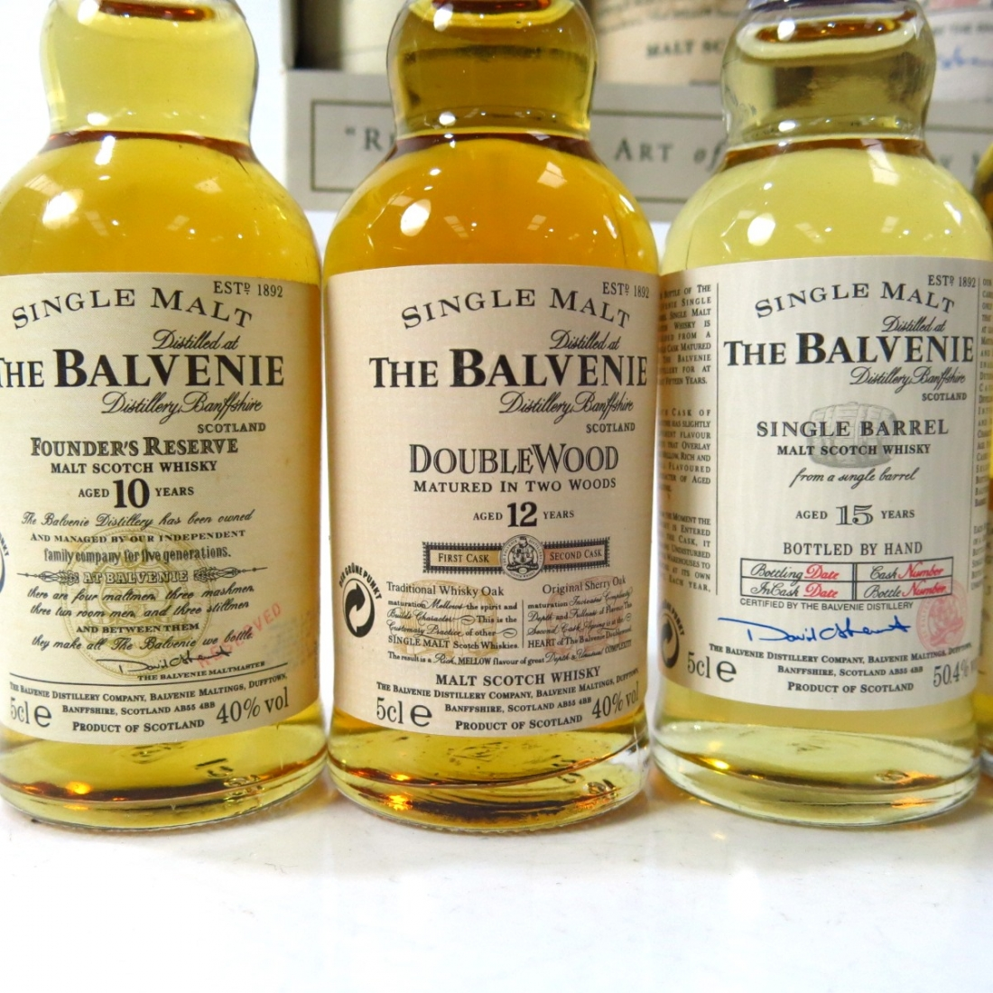 Balvenie & Highland Park Miniature Selection x 6