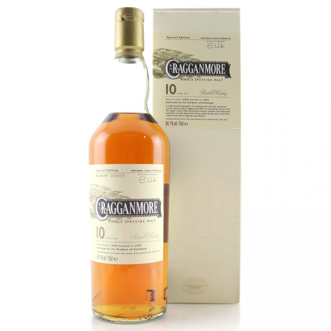 Cragganmore 1993 Cask Strength 10 Year Old