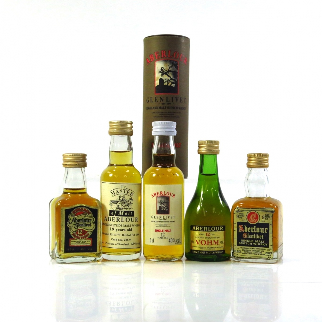 Aberlour Miniature Selection x 5 / includes 9 Year Old 1970s
