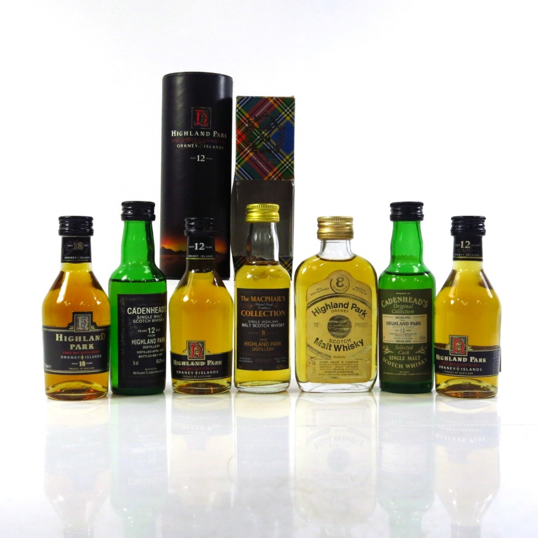 Highland Park Miniature Selection x 7 / includes 18 Year Old