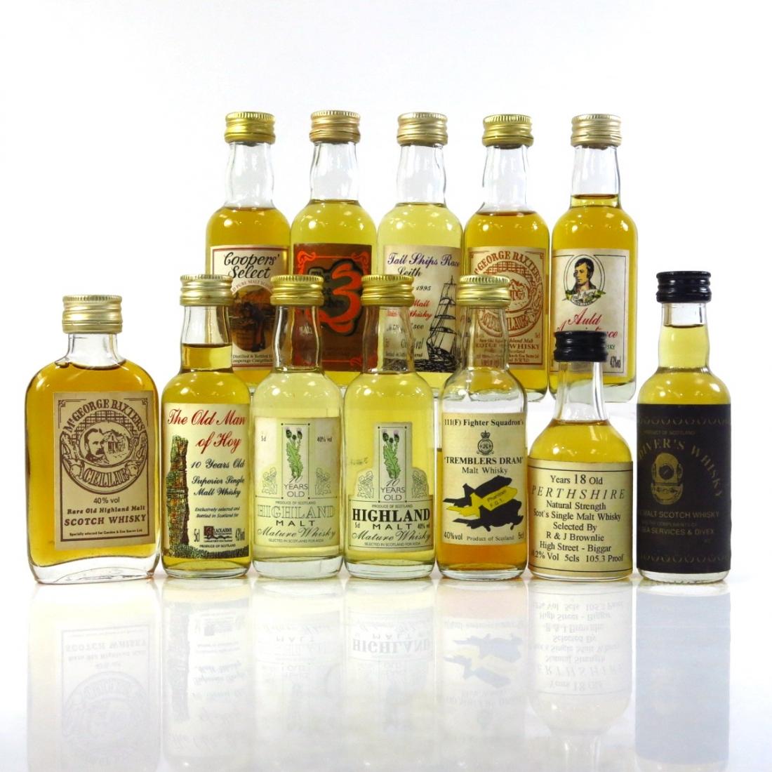 Miscellaneous Whisky Miniatures x 12