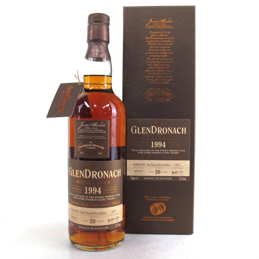 Glendronach 1994 Single Cask 20 Year Old #3273