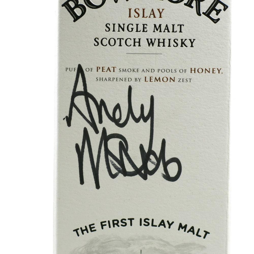 Bowmore 12 Year Old Andy McNab Signed