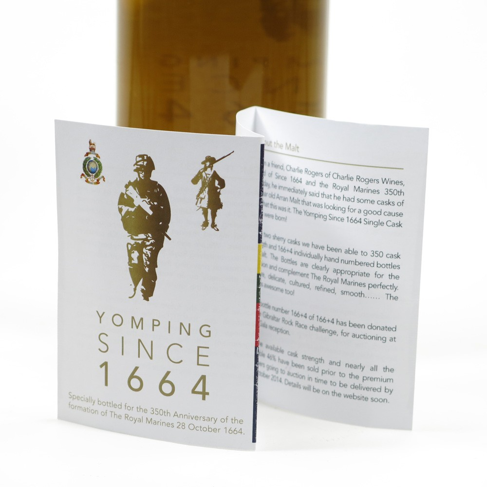Arran 1996 350th Anniversary of the Formation of the Royal Marines / Yomping Since 1664 certificates