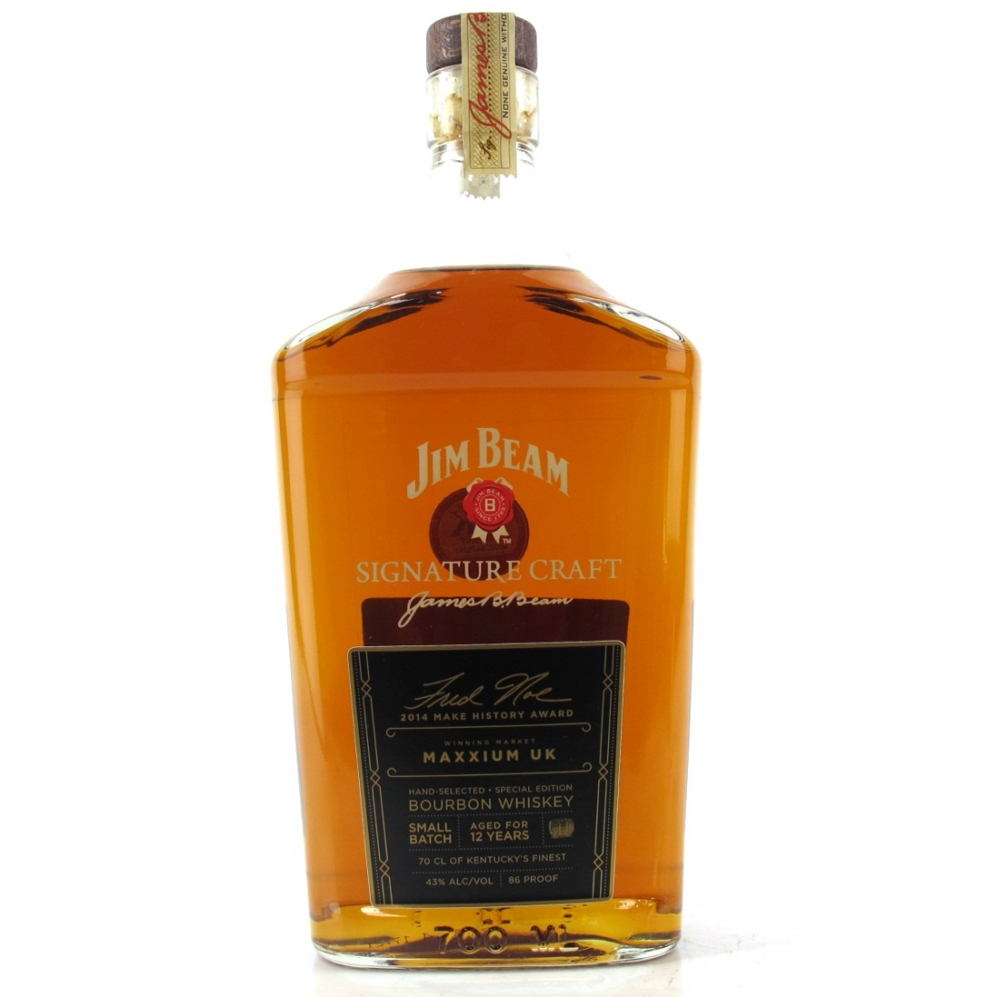 Jim Beam Signature Craft 12 Year Old / 2014 Make History Award