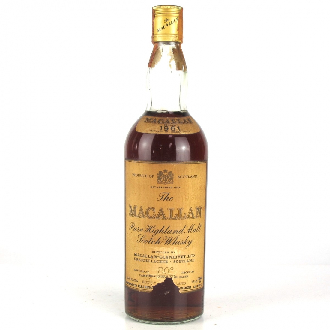 Macallan 1961 Campbell, Hope and King / Rinaldi Import