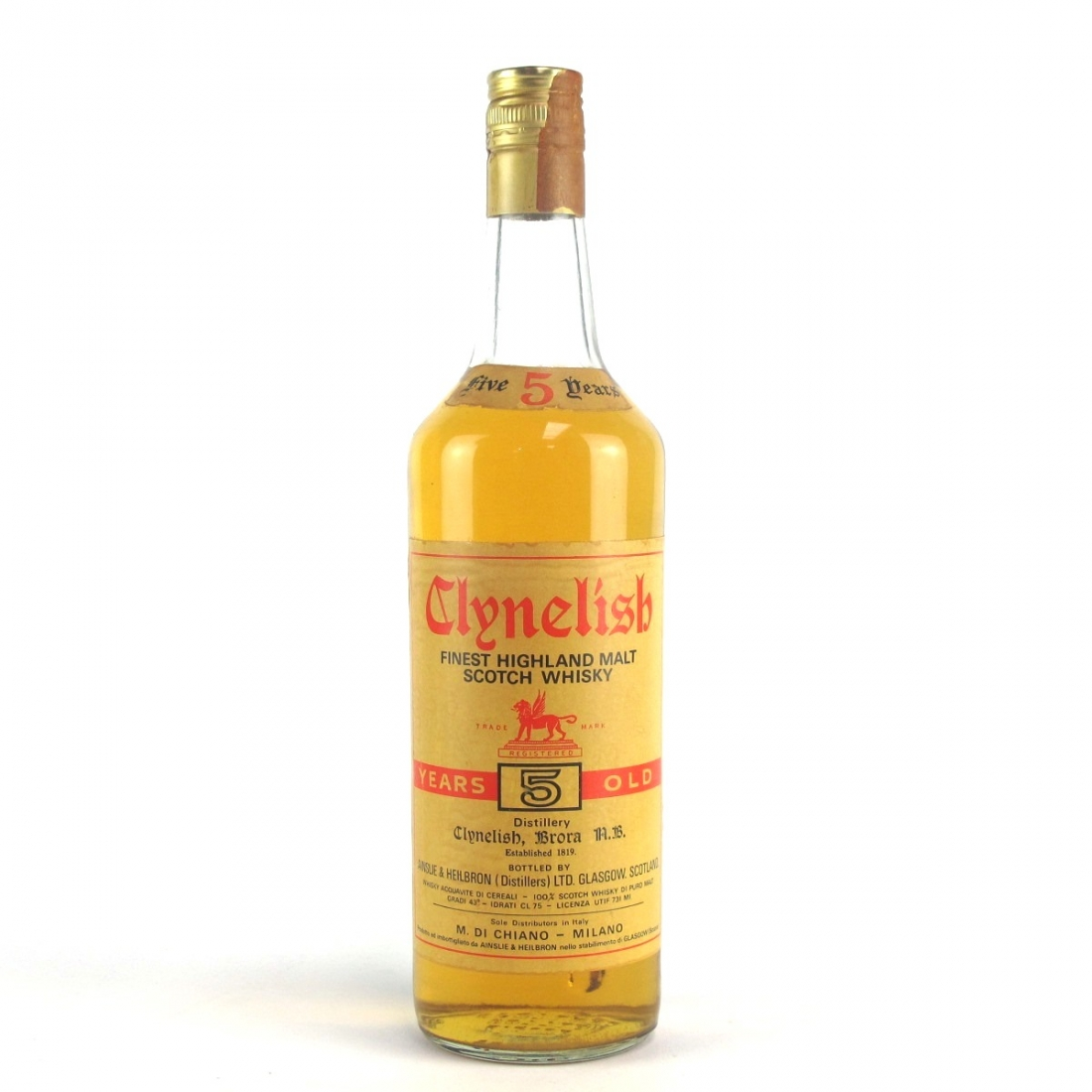 Clynelish 5 Year Old Ainslie and Heilbron circa 1960s / Di Chiano Import
