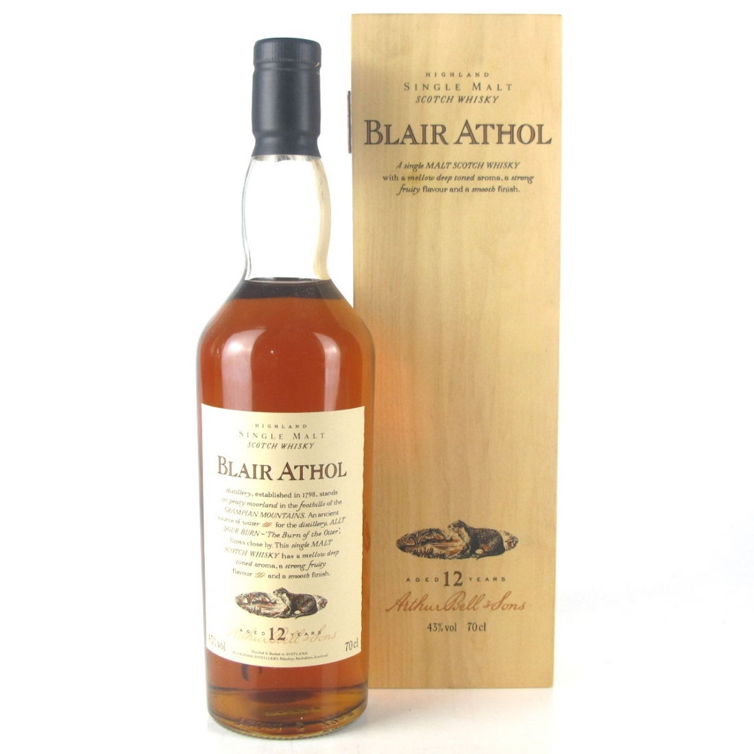 Blair Athol 12 Year Old Flora and Fauna / Wooden Box