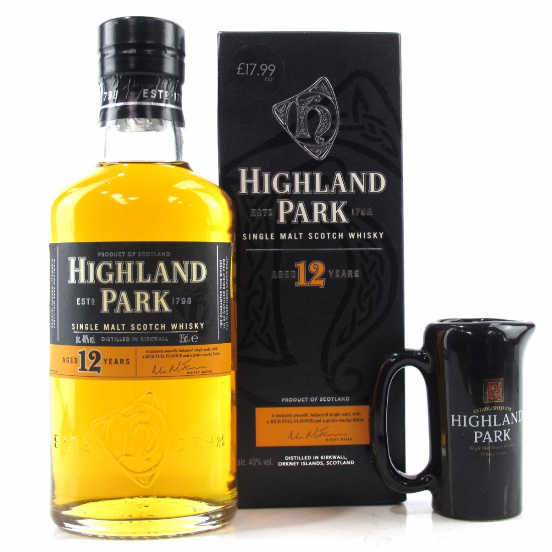 Highland Park 12 Year Old 35cl / Including Jug