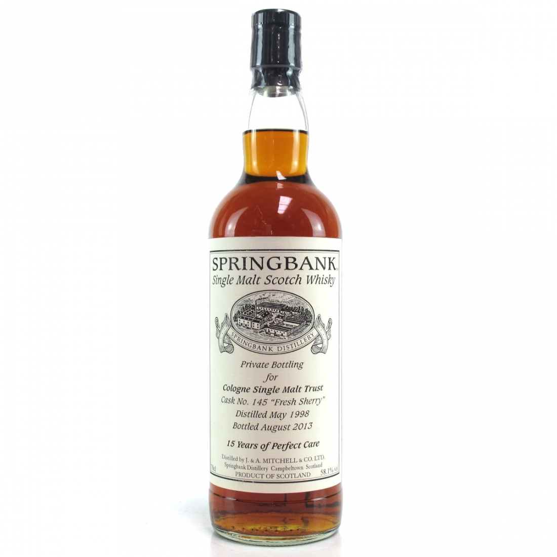 Springbank 1998 Private Cask 15 Year Old / Cologne Single