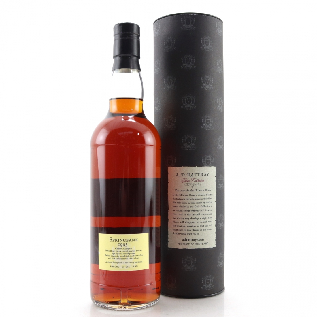 Springbank 1995 A.D. Rattray 15 Year Old / Alba Import, Germany