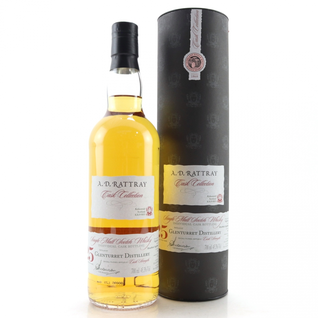 Glenturret 1988 A.D. Rattray 25 Year Old