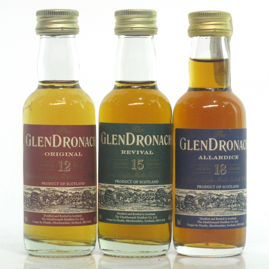 Glendronach Miniature Selection 3 x 5cl / includes Revival
