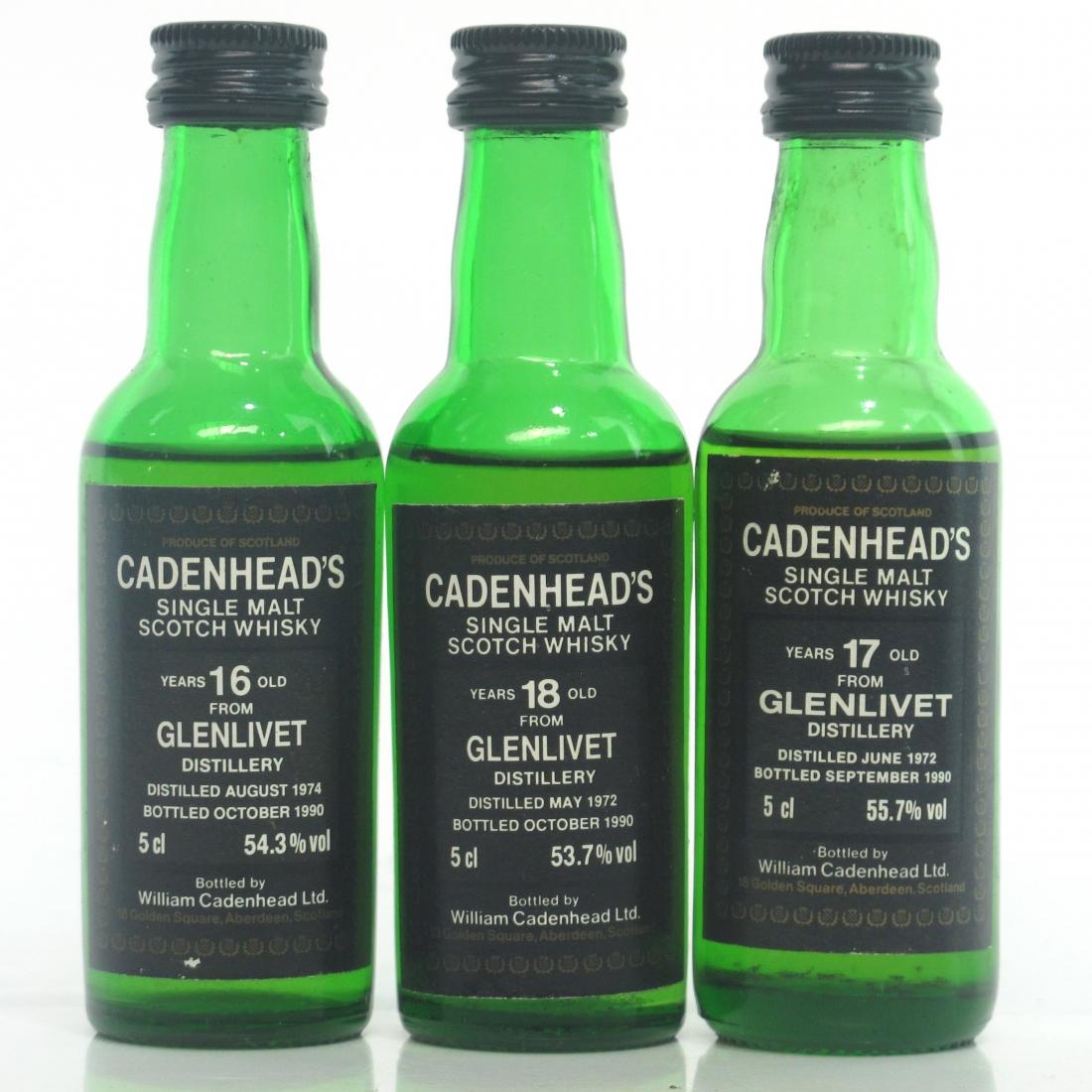Glenlivet Cadenhead's Miniatures 3 x 5cl