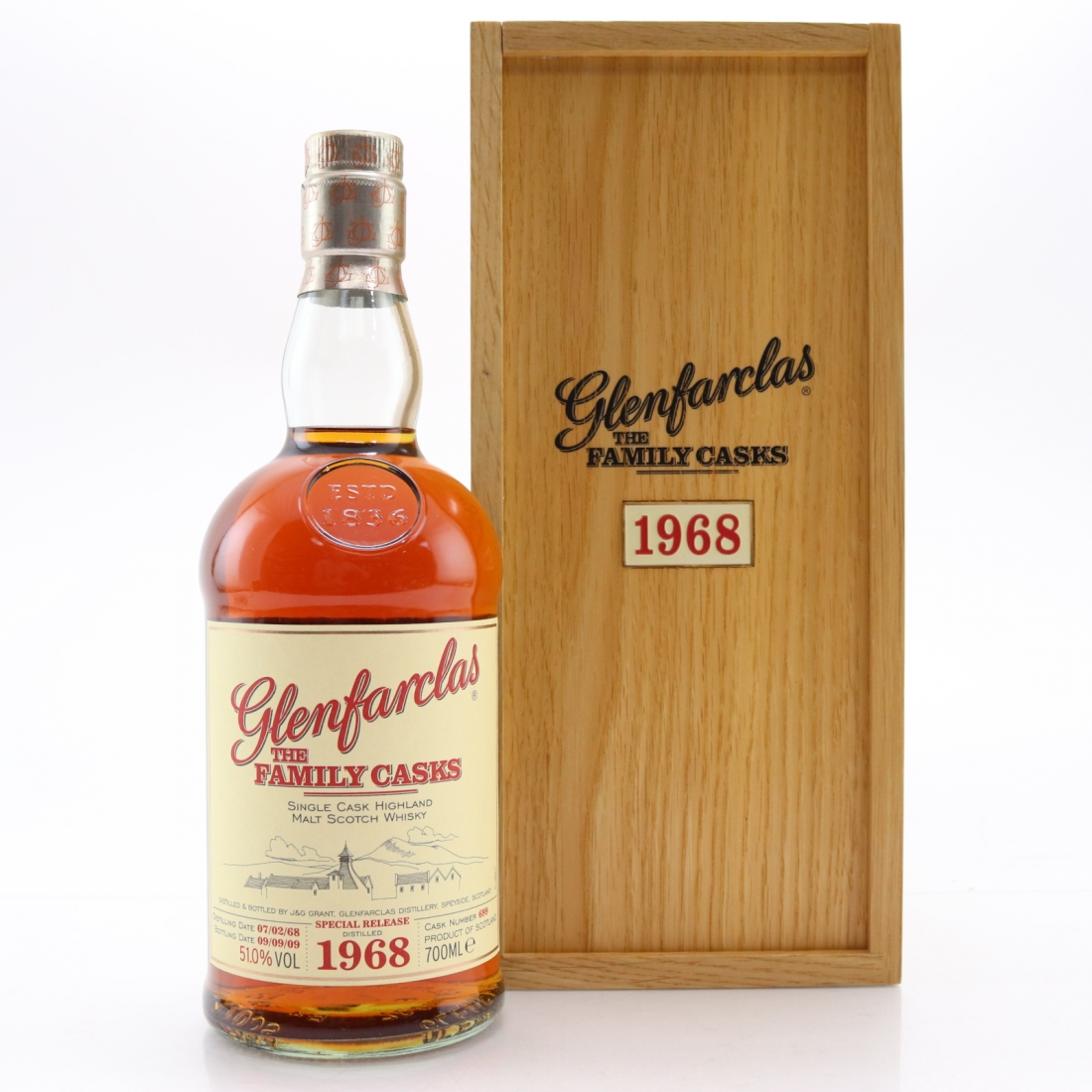 Glenfarclas 1968 Family Cask #699 / 1st Anniversary of Whiskysamples.eu