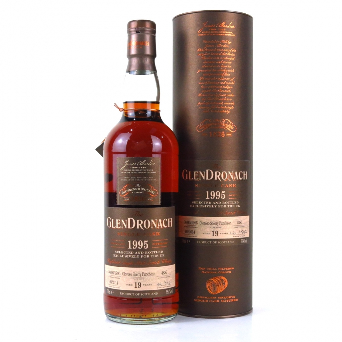 Glendronach 1995 Single Cask 19 Year Old #4887 / UK Exclusive
