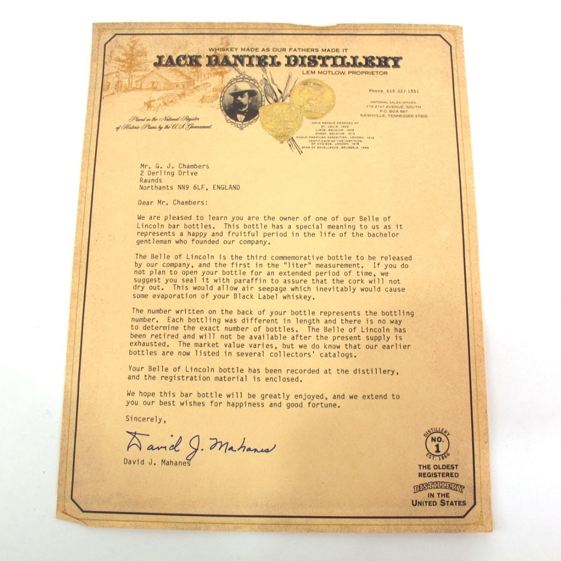 Jack Daniel's Belle of Lincoln 1.5 Litre