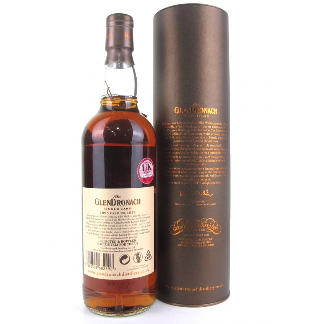 Glendronach 1995 Single Cask 20 Year Old #4074 / UK Exclusive