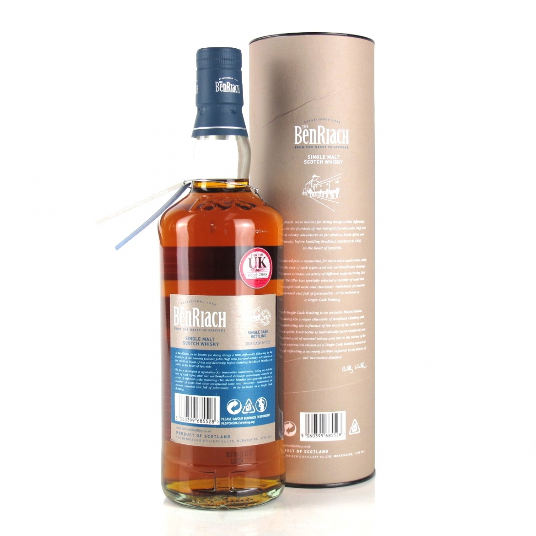 Benriach 2007 Single Cask 10 Year Old Peated / Oloroso Sherry Cask