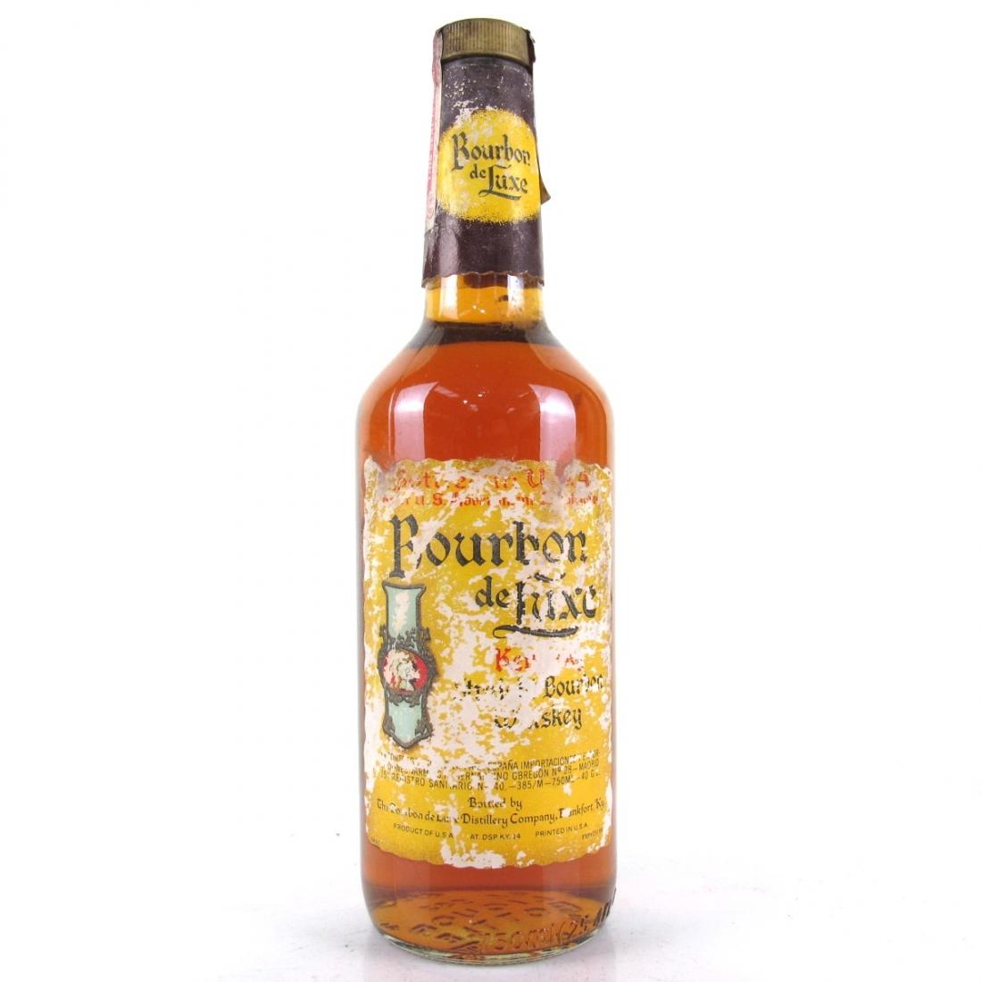 Bourbon De Luxe Kentucky Straight Bourbon 1980s