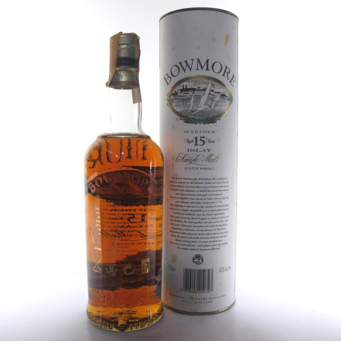 Bowmore 15 Year Old Mariner / Screen Print Label