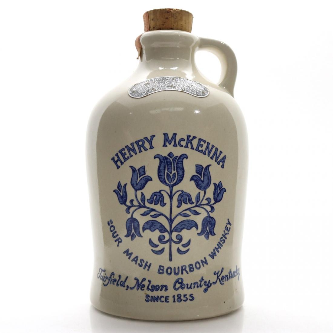 Henry McKenna 6 Year Old Kentucky Straight Bourbon Half Gallon 1970s